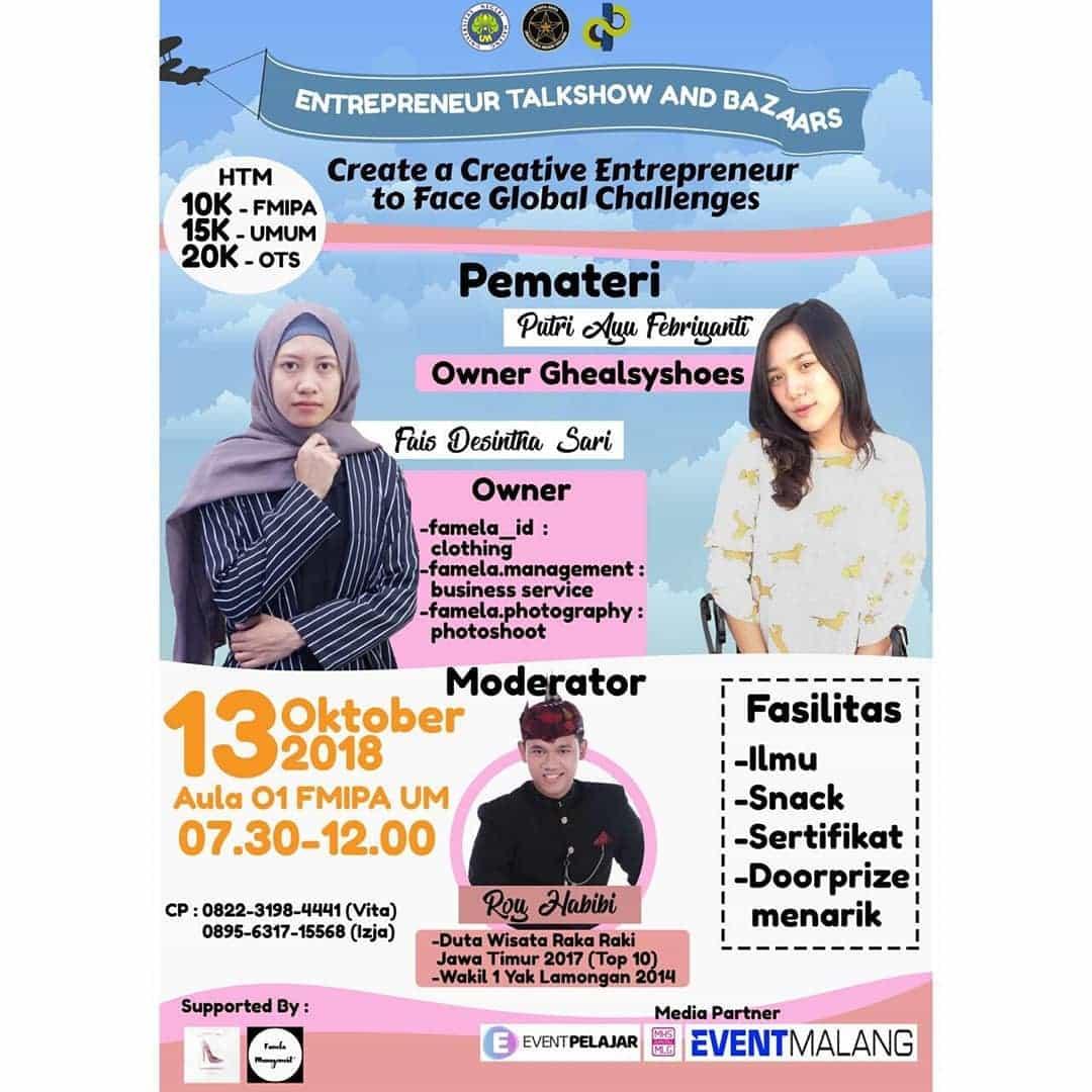 Entrepreneur Talkshow and Bazaars 2018 UM