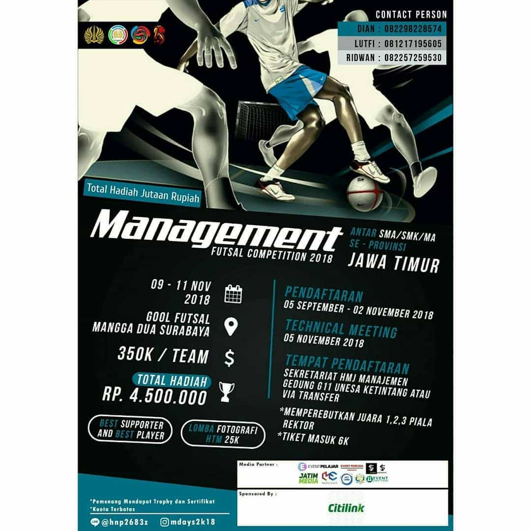 Management Futsal Competition 2k18 UNESA